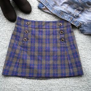 Plaid Gap Mini Skirt